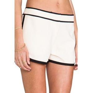DVF satin trim 'Jen' shorts (PURPLE)